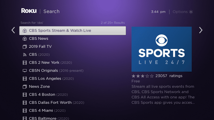 How to install CBS Sports